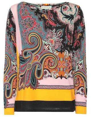 Etro Printed wool-blend top