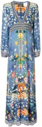 Camilla floral print kaftan dress