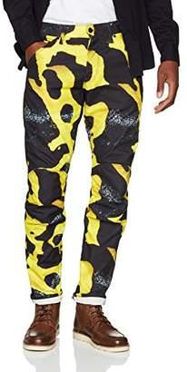 G Star Men's 5622 3D Tapered Coj Fit Jeans, (Black/Bright Billet Green 9085), W33/L34