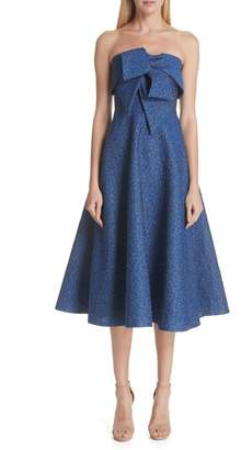 Lela Rose Pebble Brocade Fit & Flare Dress