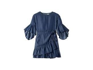 HABITUAL girl Erica Ruffle Hem Wrap Dress (Big Kids)