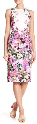 Maggy London Floral Patterned Sheath Dress