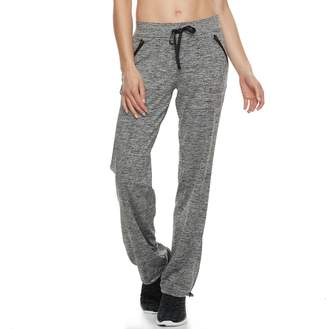 Tek Gear Women's Base Knit Bungee Hem Workout Pants