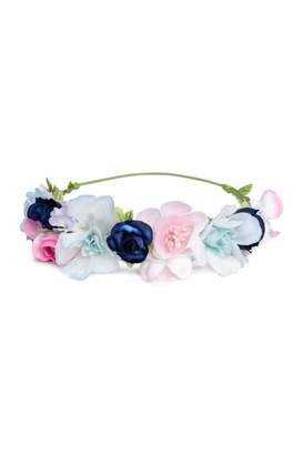 H&M Hairband with Flowers - Dark blue/pink - Kids