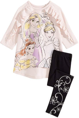 Disney Toddler Girls 2-Pc. Princesses Top & Leggings Set