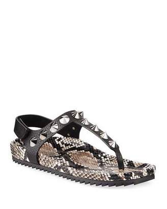 Pedro Garcia Athena Studded Thong Sandals