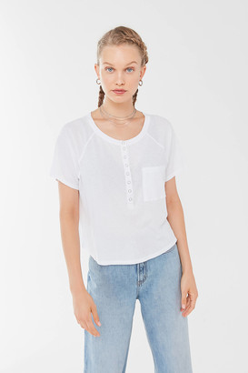 Out From Under Short Sleeve Henley Tee