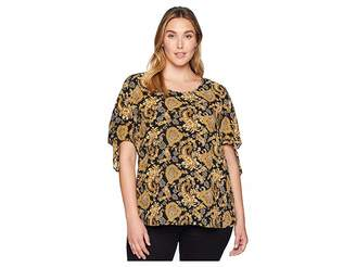 MICHAEL Michael Kors Size Sweatheart Paisley Top Women's Clothing