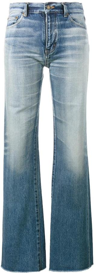 Saint LaurentSaint Laurent raw-cut flared jeans