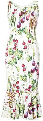 Dolce & Gabbana raddish print dress