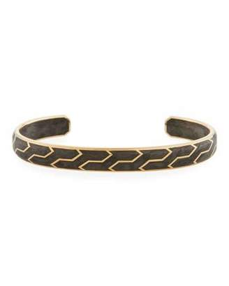 David Yurman Men's 85mm Forged Carbon and 18k Gold Cuff Bracelet