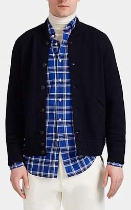 Ralph Lauren Purple Label Men's Wool-Cashmere Varsity Cardigan - Navy
