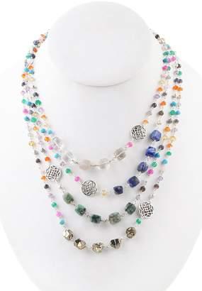 Barse Sterling Silver Semi-Precious Stone Multi Strand Necklace