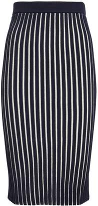 Victoria Beckham Victoria, Striped Knit Skirt