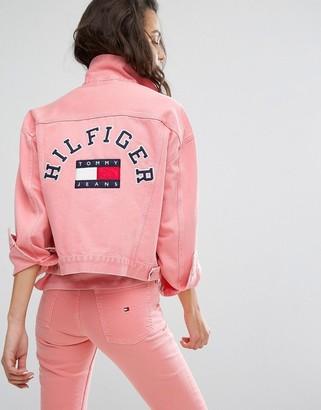 Tommy Jeans 90's Girlfriend Trucker Jacket $237 thestylecure.com