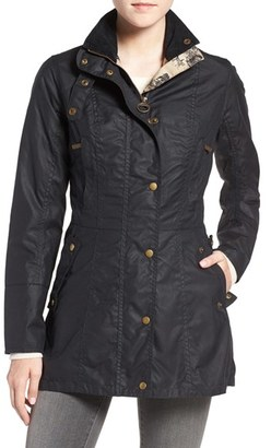 Barbour 'Holsteiner' Skirted Waxed Cotton Jacket $429 thestylecure.com