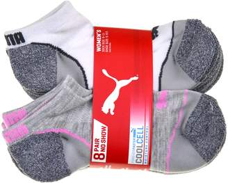 Puma CooCell 8 Pair No Show Women's Socks, Gray (Sock size:, Shoe size: 5-9.5)