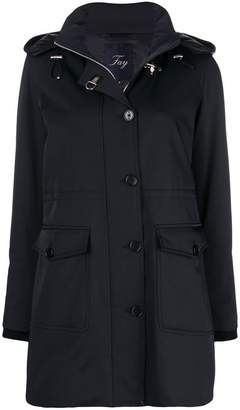 Fay hooded single breasted coat
