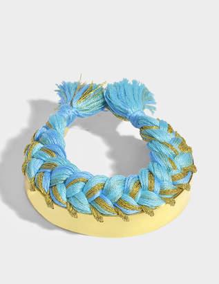 Aurelie Bidermann Copacabana Bracelet in Ocean 18K Gold-Plated Brass