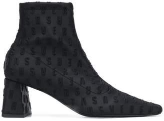 Versus embossed logo boots