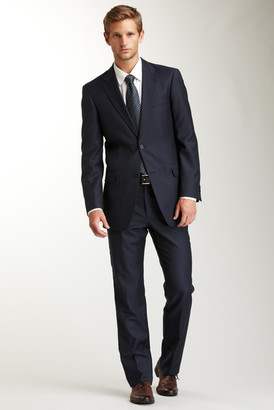 Tommy Hilfiger Nathan Blue Alternating Slim Stripe Two Button Suit $550 thestylecure.com