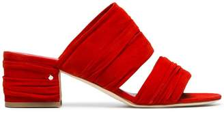 Laurence Dacade Red Roger 60 suede mules