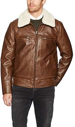 Andrew Marc Men's Amherst Distressed Faux Leather