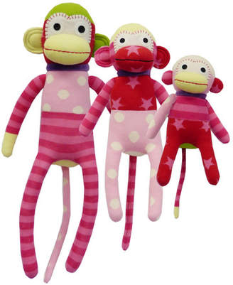 Sockie Monkey 3 Piece Family Plush Toy Set