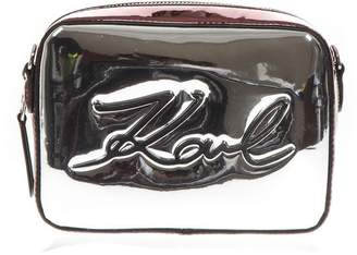Karl Lagerfeld Mixed Laminated Fabric Logo Small Bag