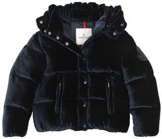 Moncler Caille Velvet & Nylon Down Jacket