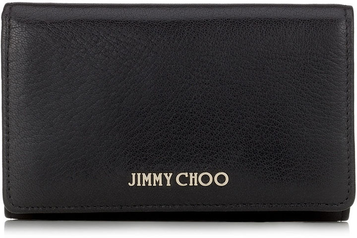 Jimmy ChooMARLIE Black Soft Grained Goat Leather Continental Wallet