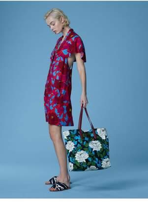 Diane von Furstenberg Short-Sleeve Open Back Dress