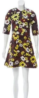 Marni Floral Print Flare Dress