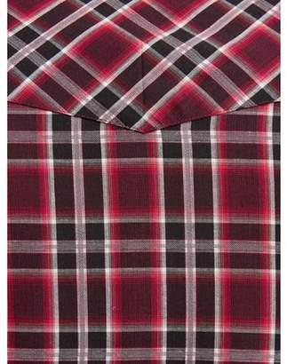 Plains Men's Long Sleeve Textured Plaid Western Shirt