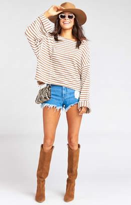 Show Me Your Mumu Vega Pullover ~ Brady Knit Caramel
