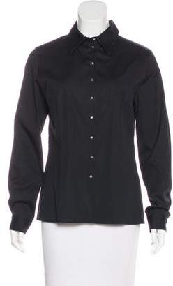 Celine Button-Up Long Sleeve Top