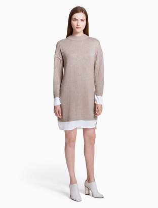 Calvin Klein layered sweater dress