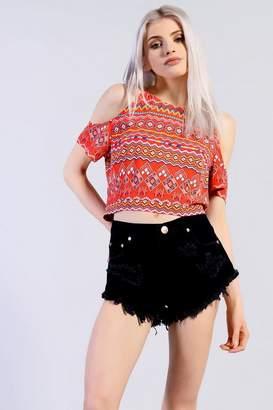 Glamorous **High Waisted Denim Shorts