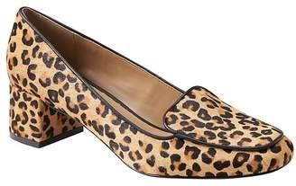 Banana Republic Low Block-Heel Leopard Print Loafer