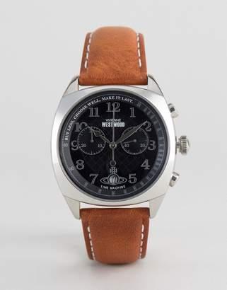 Vivienne Westwood Leather Watch In Tan VV176BKTN