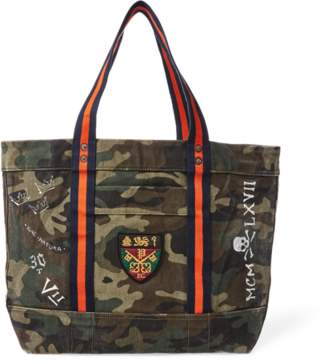 Ralph Lauren Crested Canvas Tote