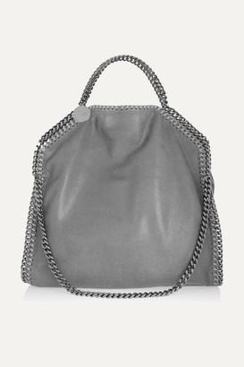 Stella McCartney The Falabella Medium Faux Brushed-leather Shoulder Bag -  Light gray 194a63dea1ff4