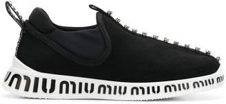 Miu Miu logo printed sneakers