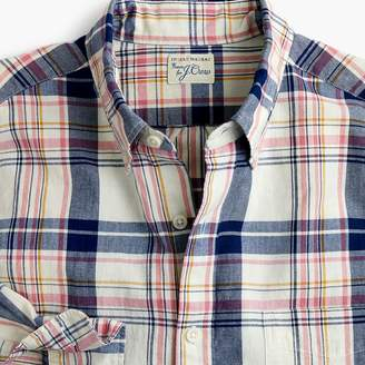J.Crew Indian madras shirt in indigo plaid