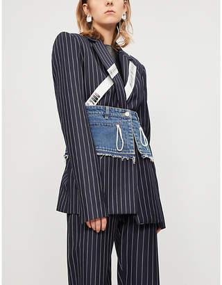 House of Holland Pinstripe wool jacket