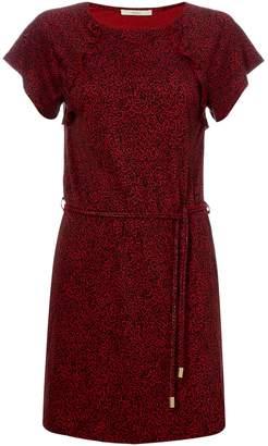 Sessun Ruffle detailed tie waist dress