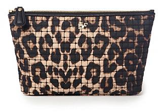 Diane von Furstenberg Voyage Nylon Leopard Print Cosmetic Bag