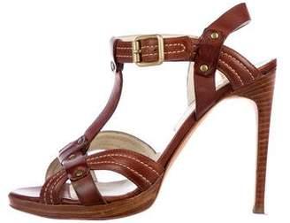 Rupert Sanderson Leather T-Strap Sandals