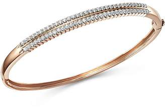 Bloomingdale's Diamond Double Row Bangle in 14K Rose Gold, 1.0 ct. t.w. - 100% Exclusive
