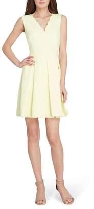 Tahari Scallop Fit & Flare Dress